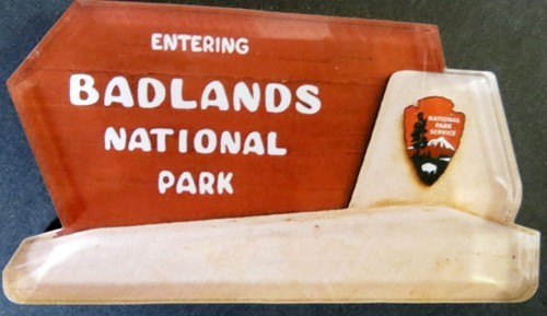 Badlands National Park Sign Magnet