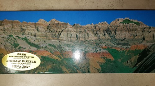 Dakota Badlands 12x36 Panoramic Jigsaw Puzzle
