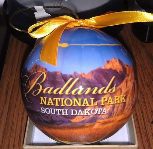 Badlands christmas ornament