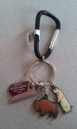 Badlands charm key chain