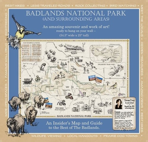 Badlands National Park and Surrounding Areas Map