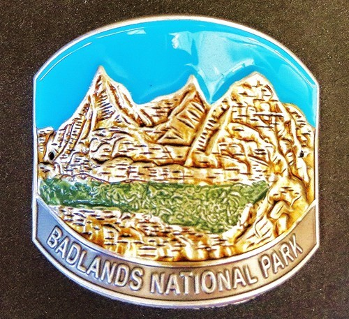 Blue Badlands Formations Medallion